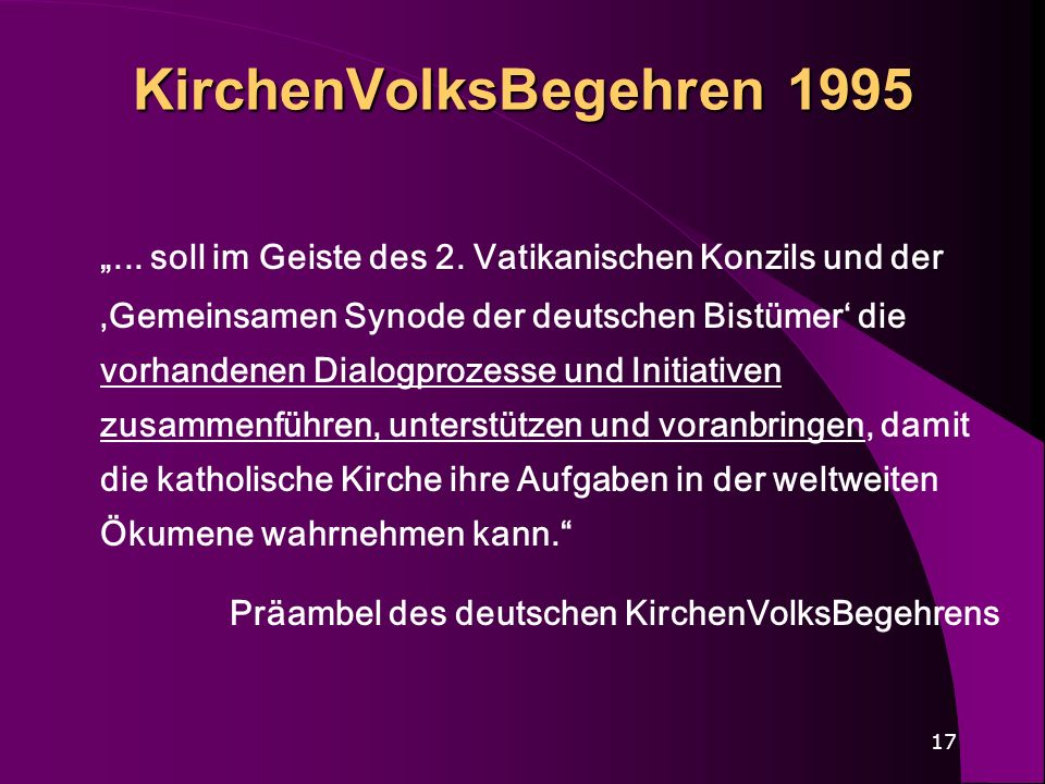 KirchenVolksBegehren 1995