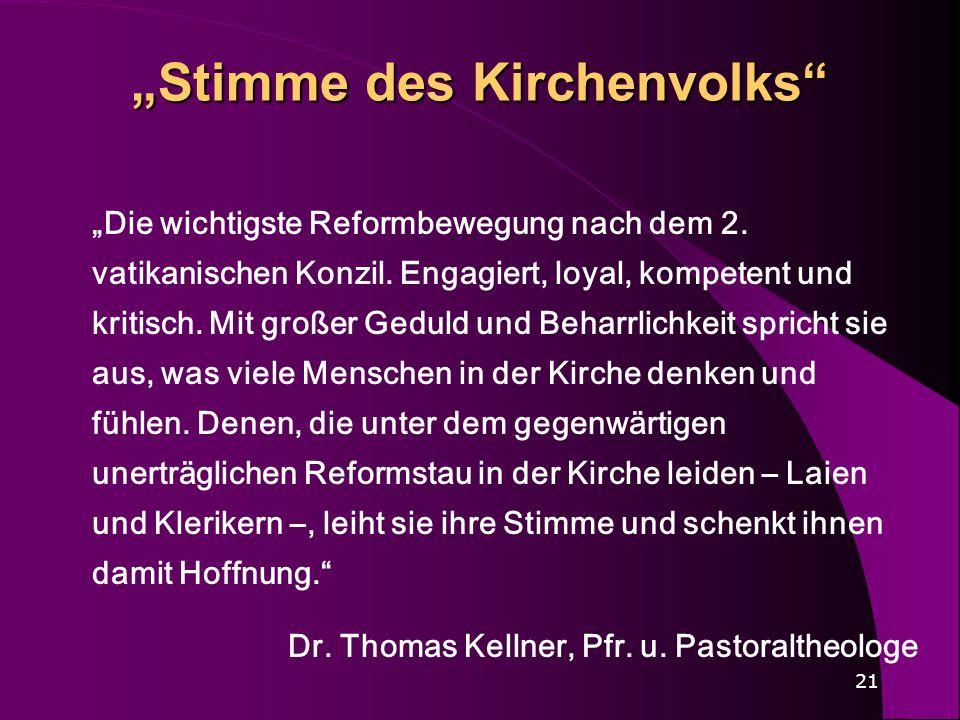 """""""Stimme des Kirchenvolks"""