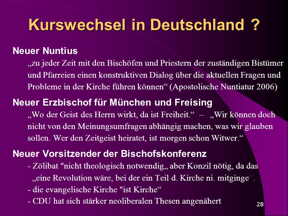 Kurswechsel in Deutschland