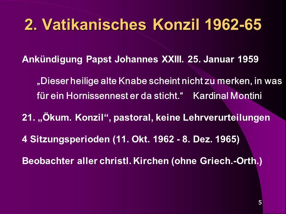 2. Vatikanisches Konzil 1962-65