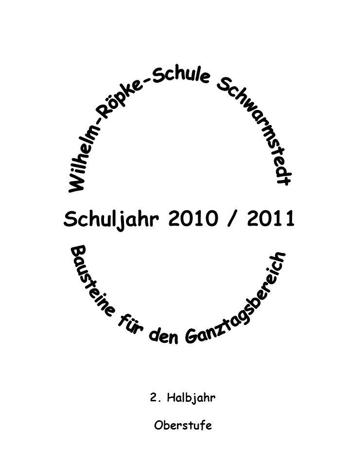 Wilhelm-Röpke-Schule Schwarmstedt Bausteine für den Ganztagsbereich