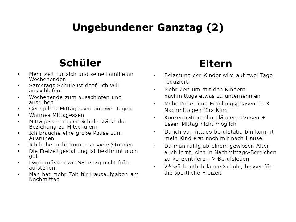 Ungebundener Ganztag (2)