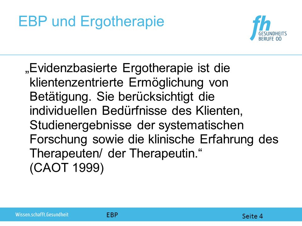 EBP und Ergotherapie