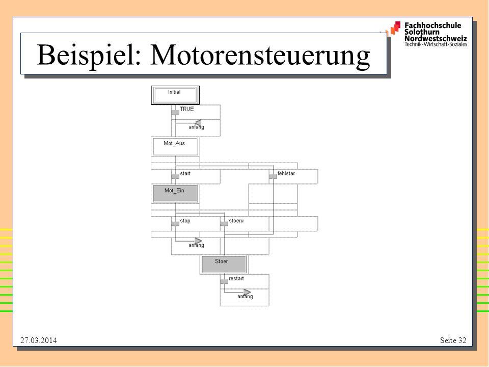 Beispiel: Motorensteuerung