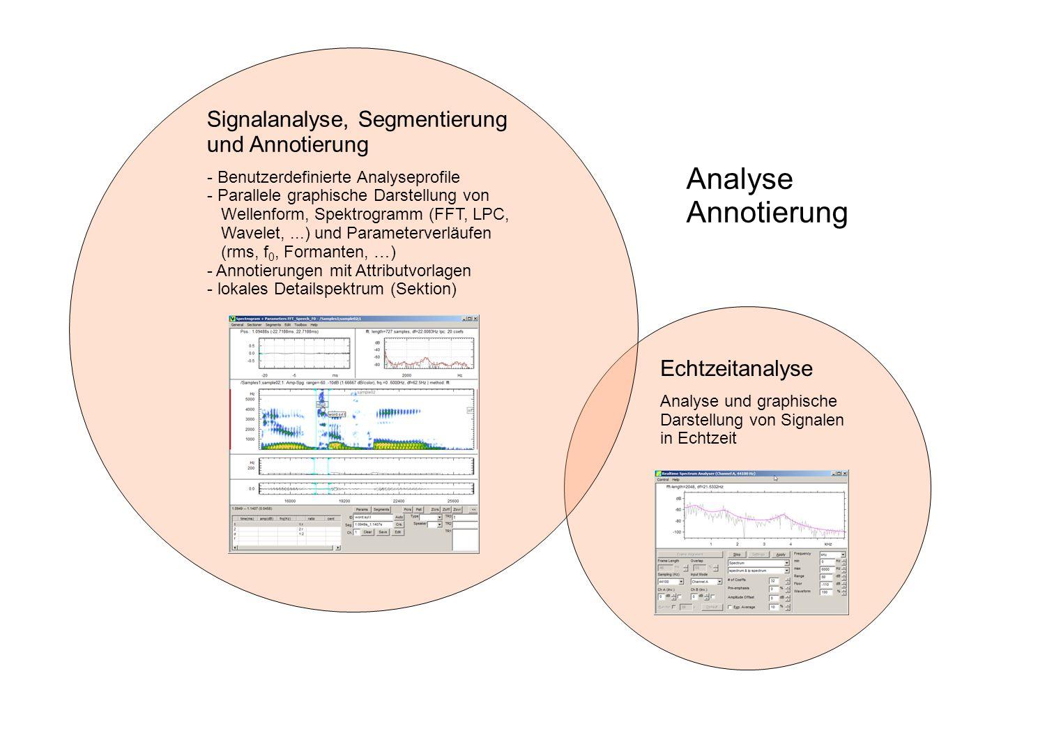 Analyse Annotierung Signalanalyse, Segmentierung und Annotierung