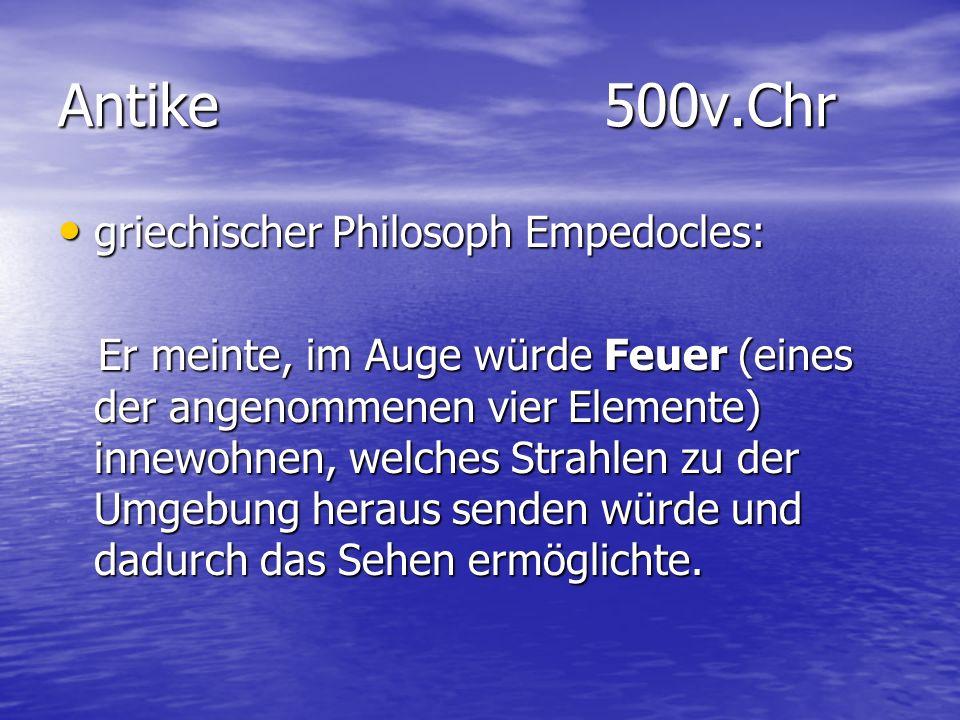 Antike 500v.Chr griechischer Philosoph Empedocles: