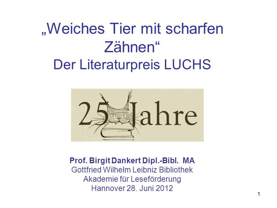 """""""Weiches Tier mit scharfen Zähnen Der Literaturpreis LUCHS Prof"""