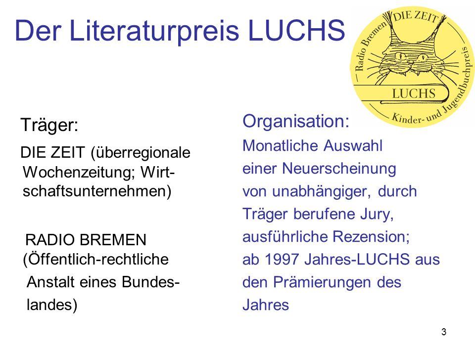 Der Literaturpreis LUCHS