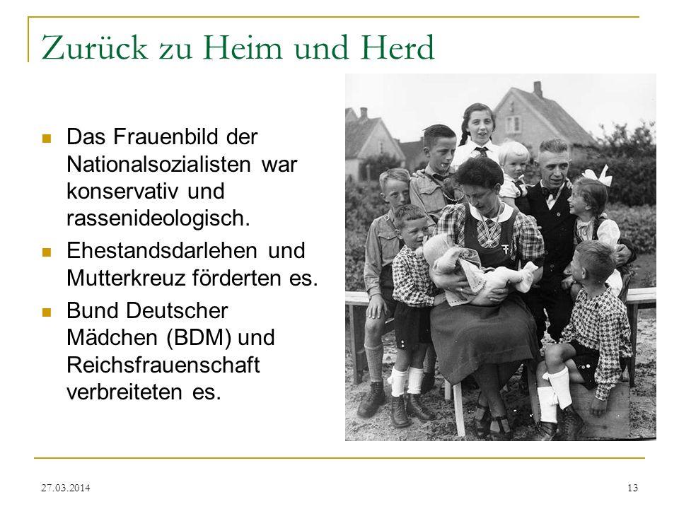 Zurück zu Heim und Herd Das Frauenbild der Nationalsozialisten war konservativ und rassenideologisch.