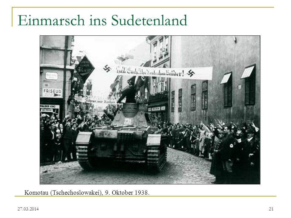 Einmarsch ins Sudetenland