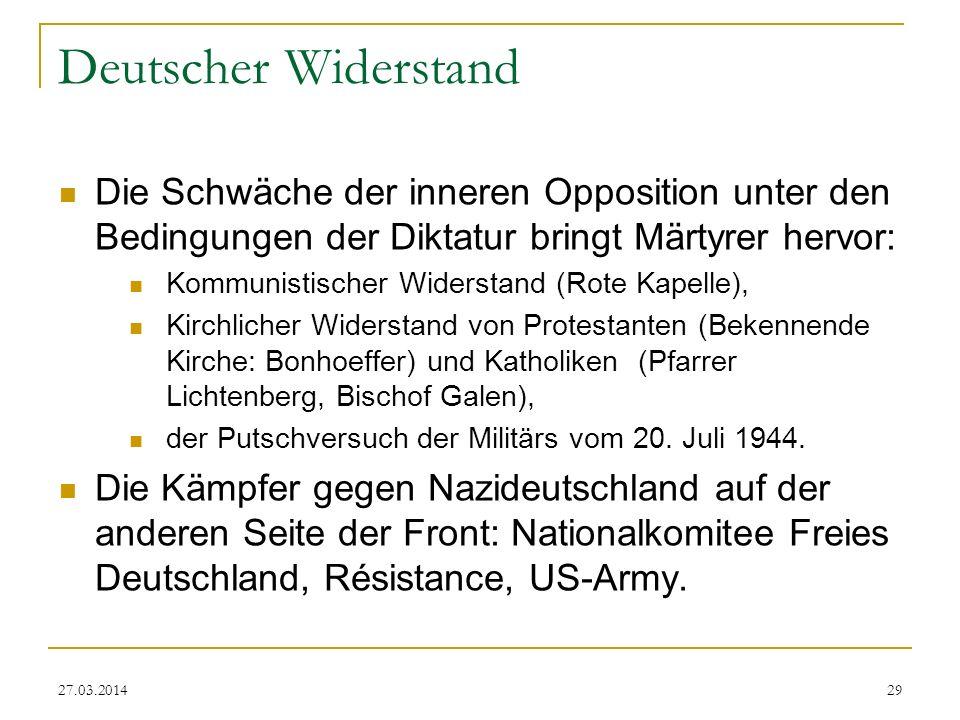 Deutscher Widerstand Die Schwäche der inneren Opposition unter den Bedingungen der Diktatur bringt Märtyrer hervor: