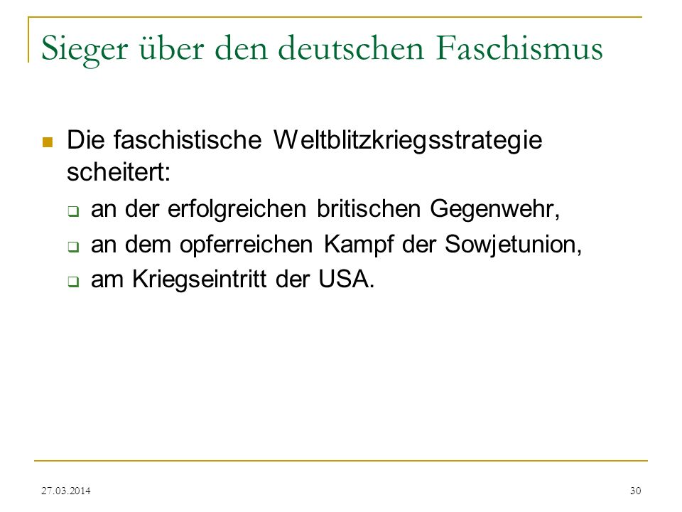 Sieger über den deutschen Faschismus