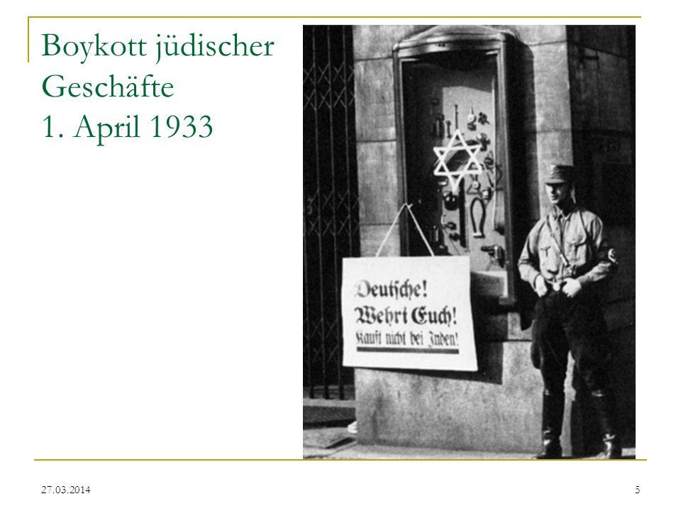Boykott jüdischer Geschäfte 1. April 1933