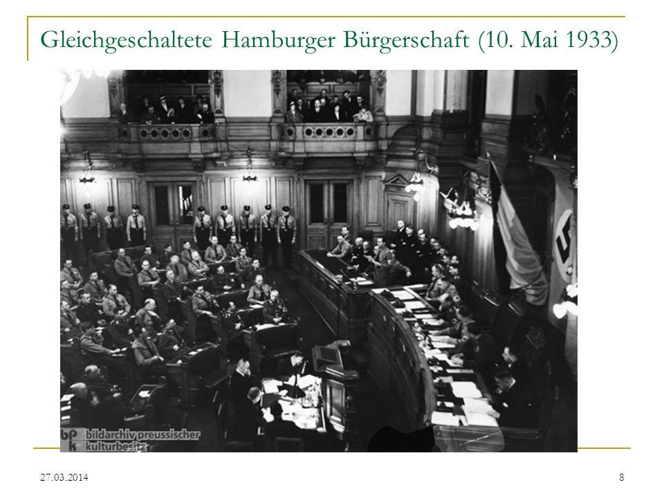 Gleichgeschaltete Hamburger Bürgerschaft (10. Mai 1933)