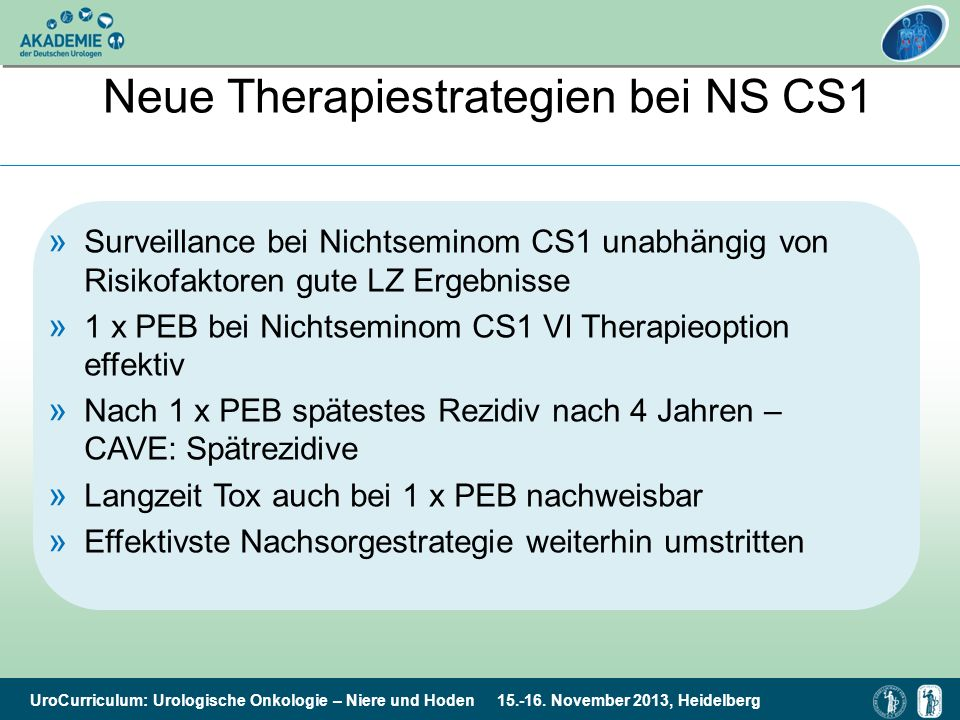 Neue Therapiestrategien bei NS CS1