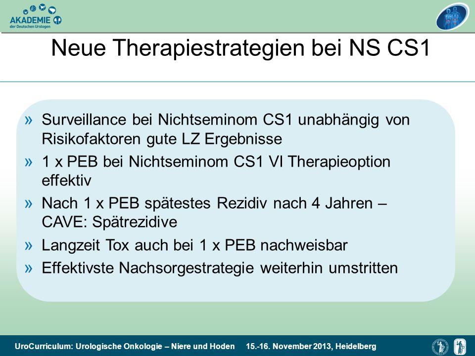 Neue Therapiestrategien bei NS CS1