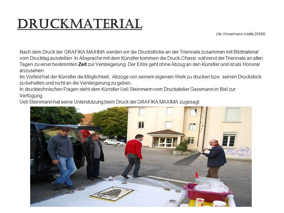 DRUCKMATERIAL Ute Winselmann Adatte 2008©