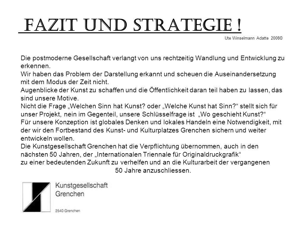 Fazit und Strategie ! Ute Winselmann Adatte 2008©