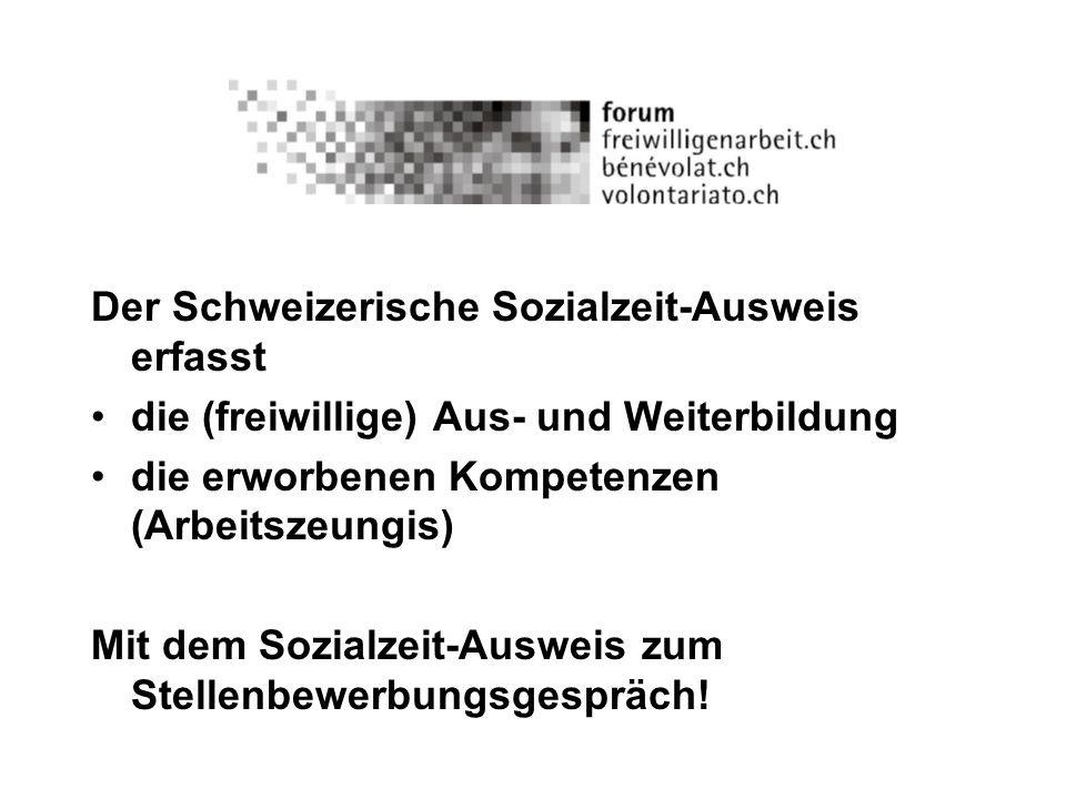Der Schweizerische Sozialzeit-Ausweis erfasst