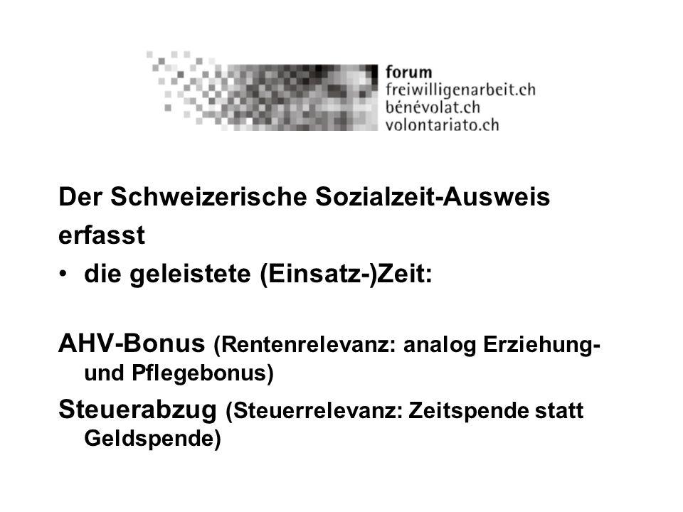 Der Schweizerische Sozialzeit-Ausweis