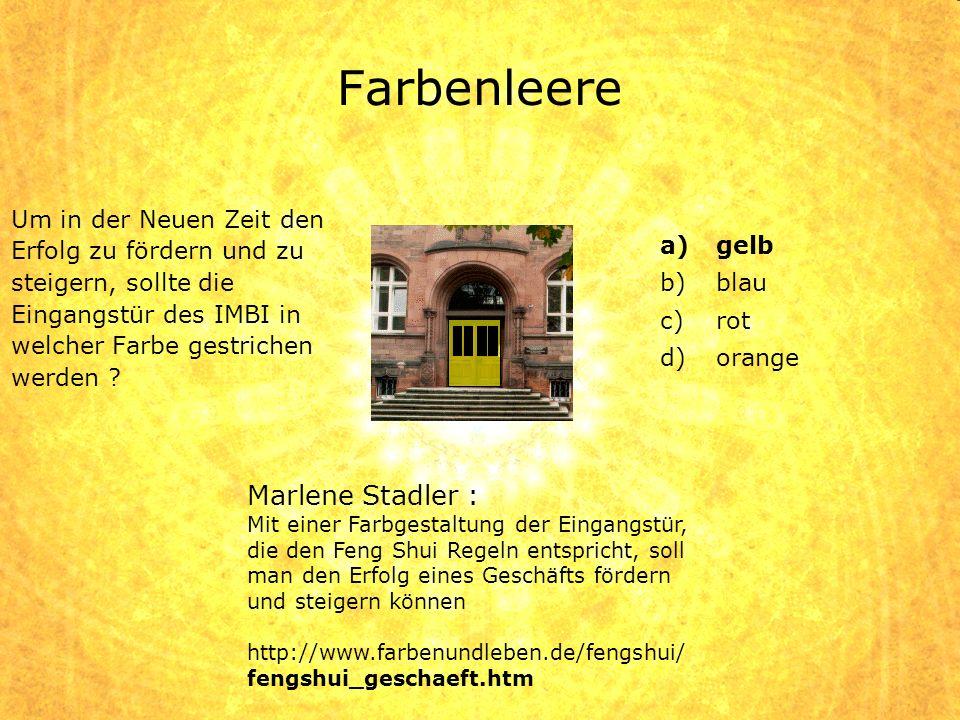 Farbenleere Marlene Stadler :