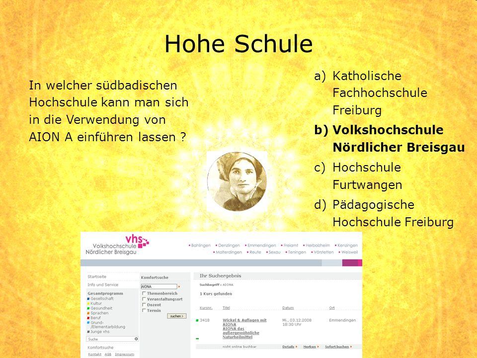 Hohe Schule Katholische Fachhochschule Freiburg