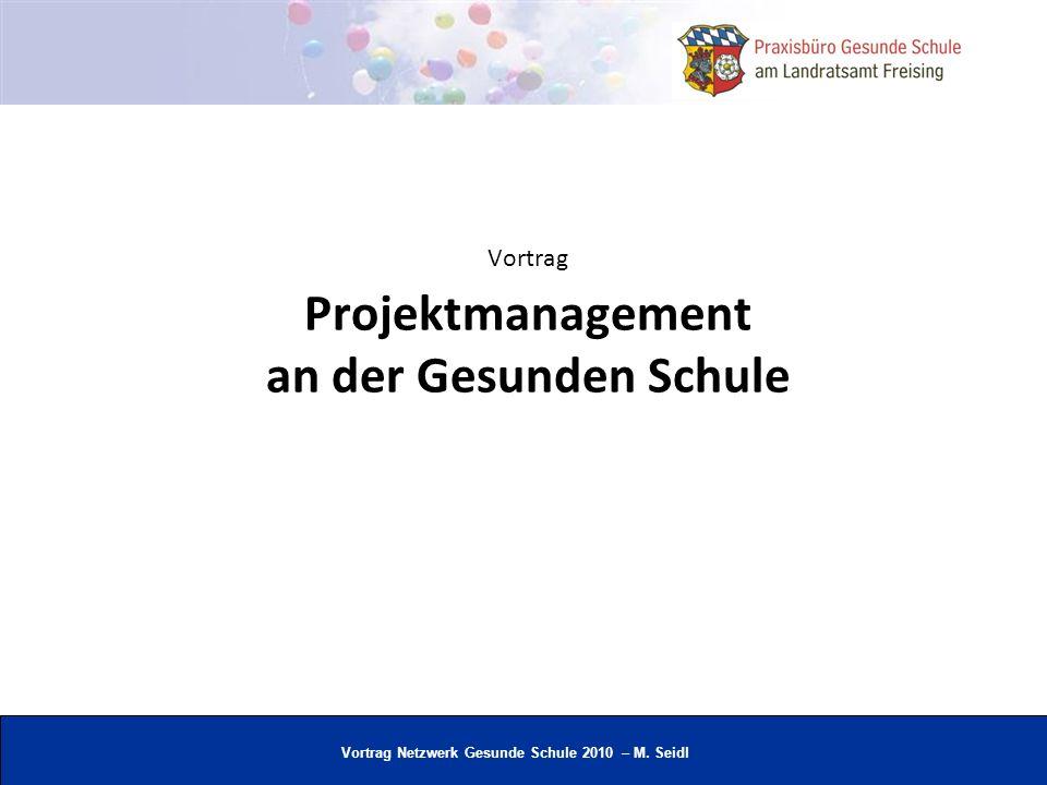 Vortrag Projektmanagement an der Gesunden Schule