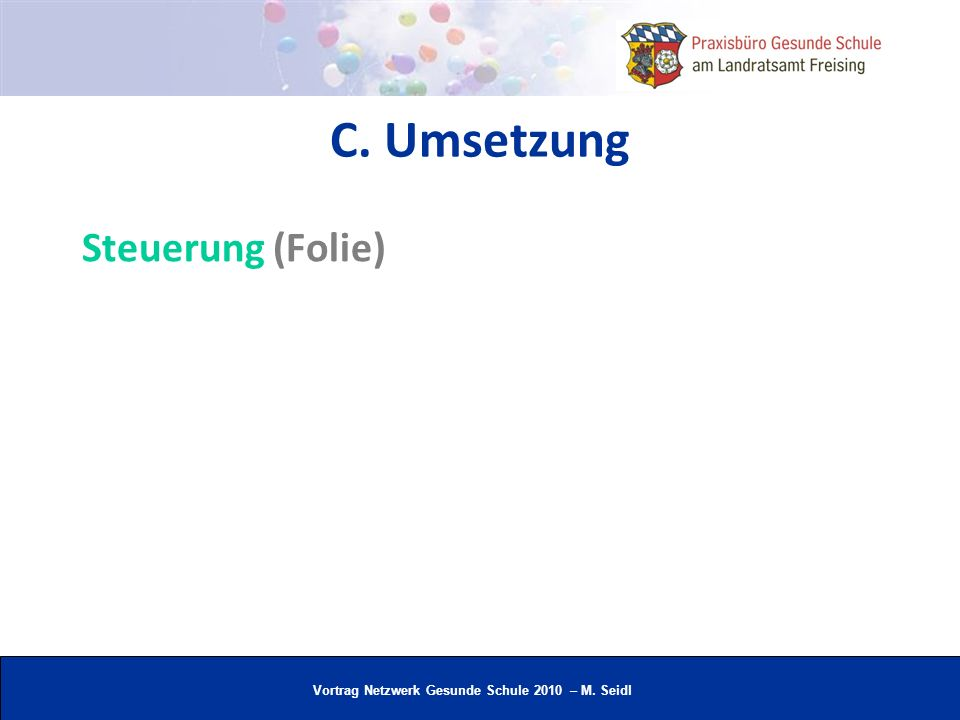 C. Umsetzung Steuerung (Folie)