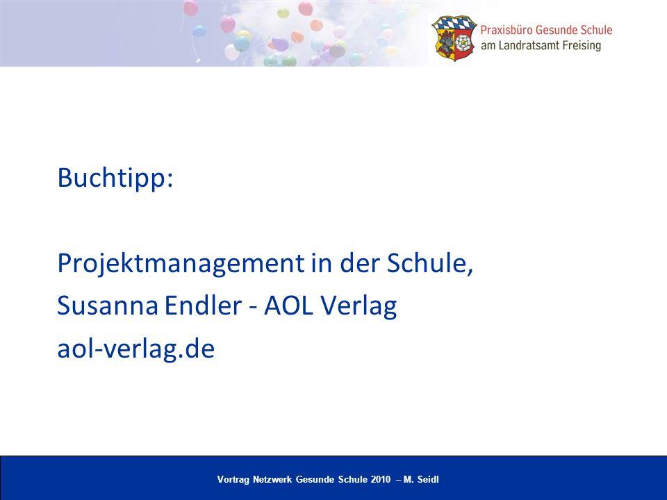 Buchtipp: Projektmanagement in der Schule, Susanna Endler - AOL Verlag aol-verlag.de