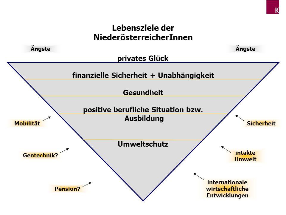 Lebensziele der NiederösterreicherInnen