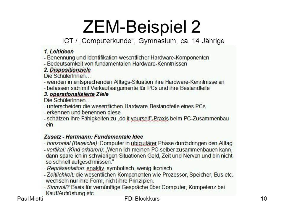 """ZEM-Beispiel 2 ICT / """"Computerkunde , Gymnasium, ca. 14 Jährige"""