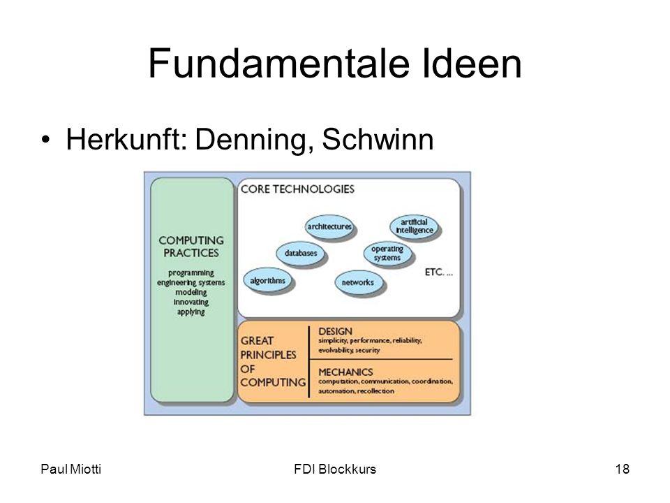 Fundamentale Ideen Herkunft: Denning, Schwinn Paul Miotti