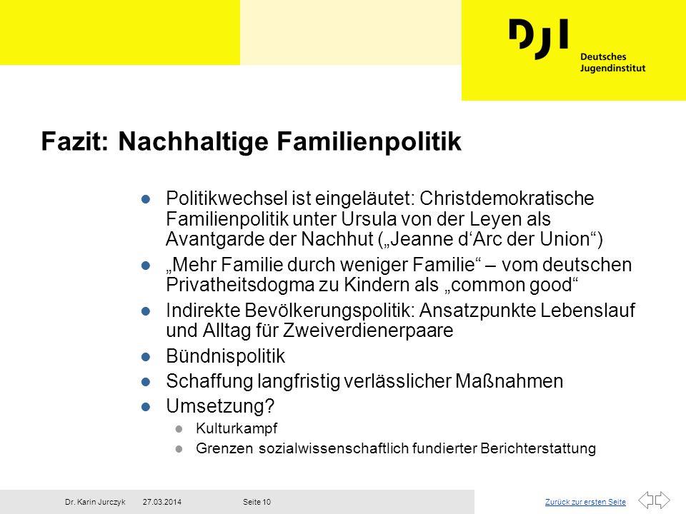 Fazit: Nachhaltige Familienpolitik