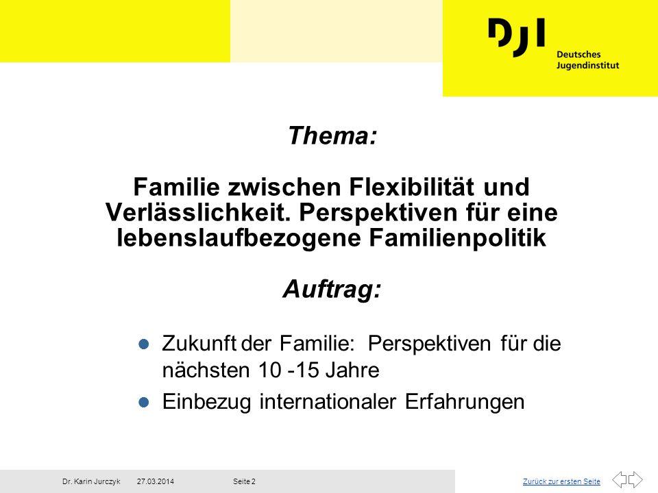 Thema: Familie zwischen Flexibilität und Verlässlichkeit