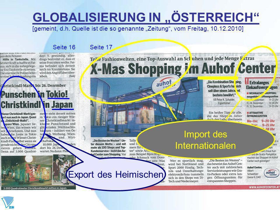 Import des Internationalen