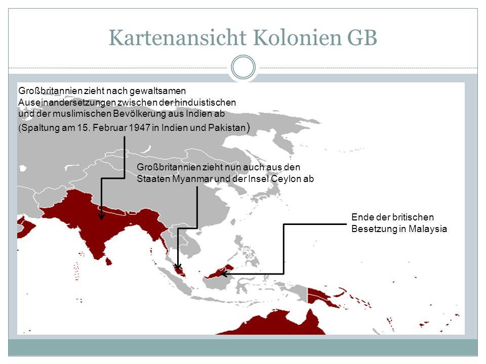 Kartenansicht Kolonien GB