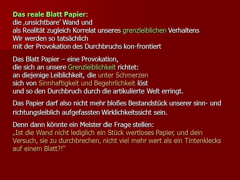 Das reale Blatt Papier: