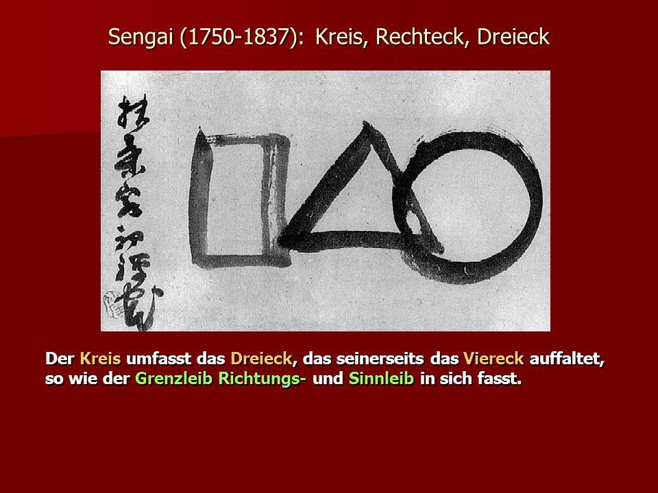 Sengai (1750-1837): Kreis, Rechteck, Dreieck