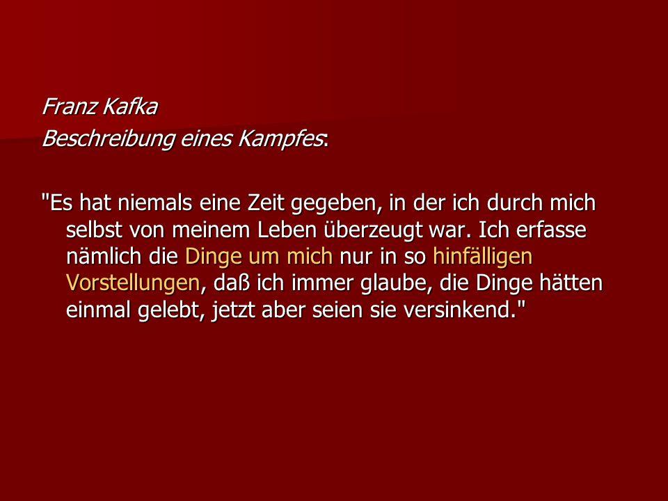 Franz KafkaBeschreibung eines Kampfes: