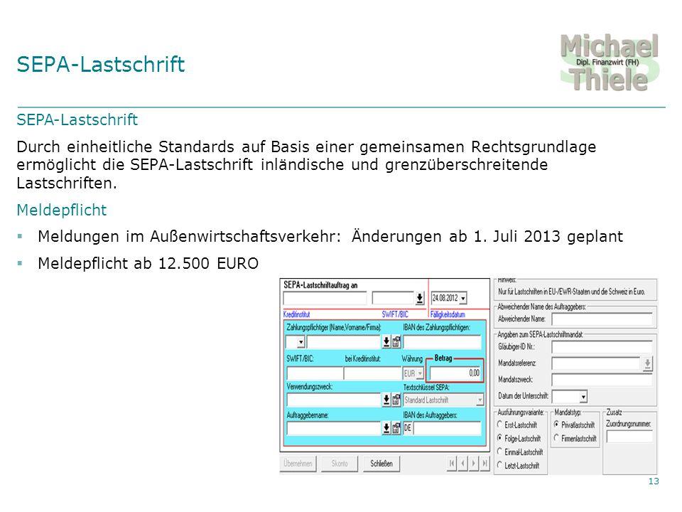 SEPA-Lastschrift SEPA-Lastschrift