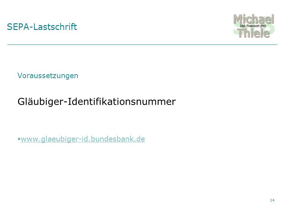 Gläubiger-Identifikationsnummer