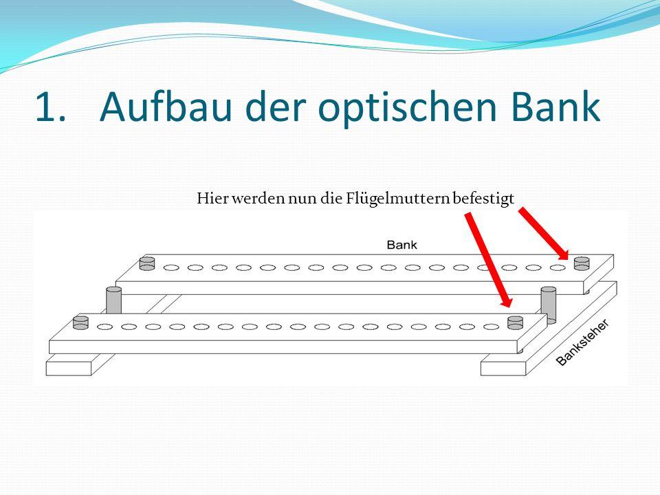 1. Aufbau der optischen Bank