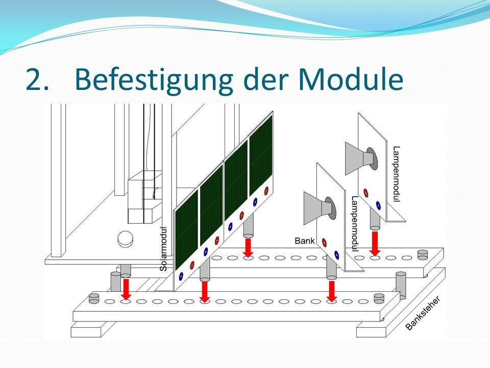 2. Befestigung der Module