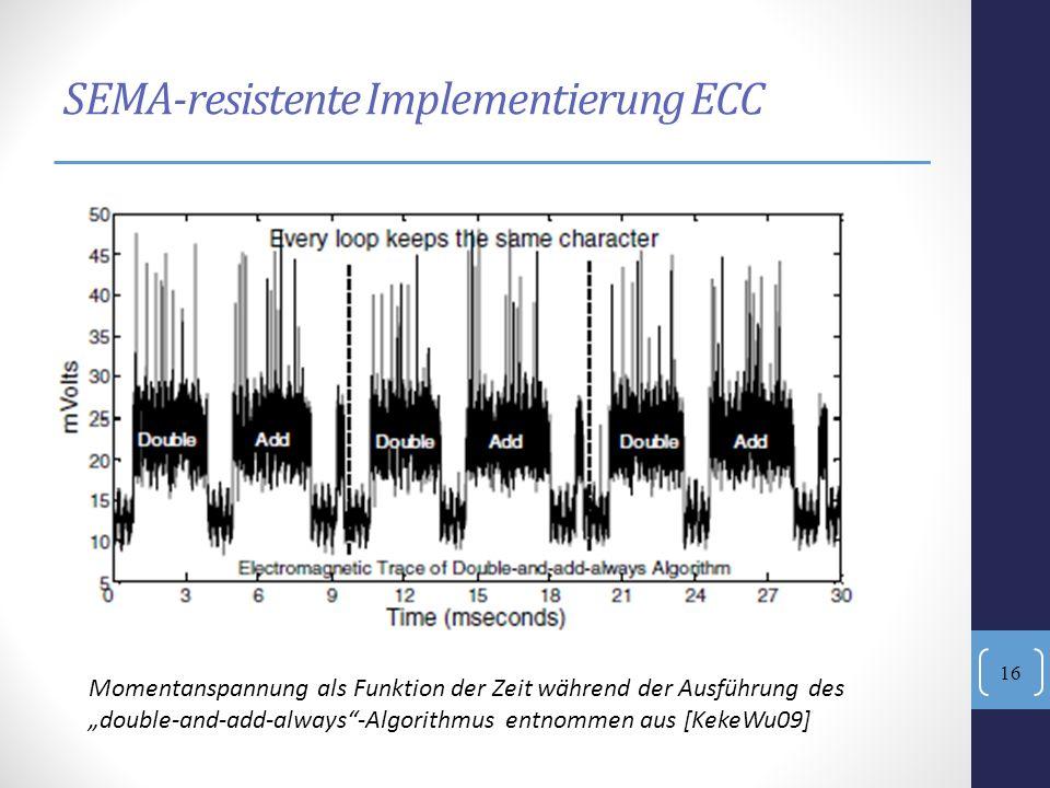 SEMA-resistente Implementierung ECC