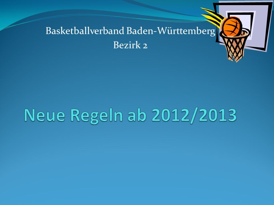 Basketballverband Baden-Württemberg Bezirk 2
