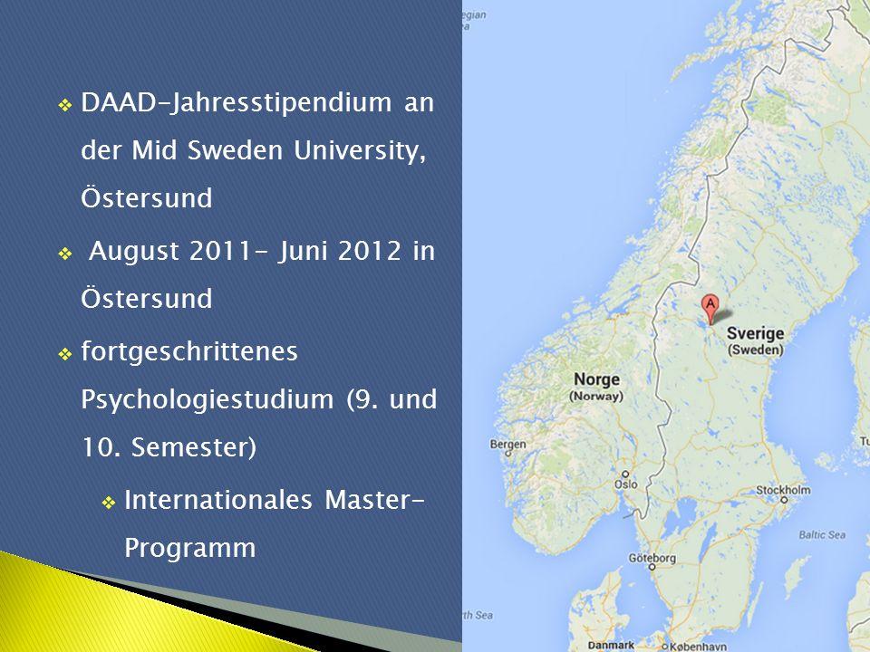 DAAD-Jahresstipendium an der Mid Sweden University, Östersund