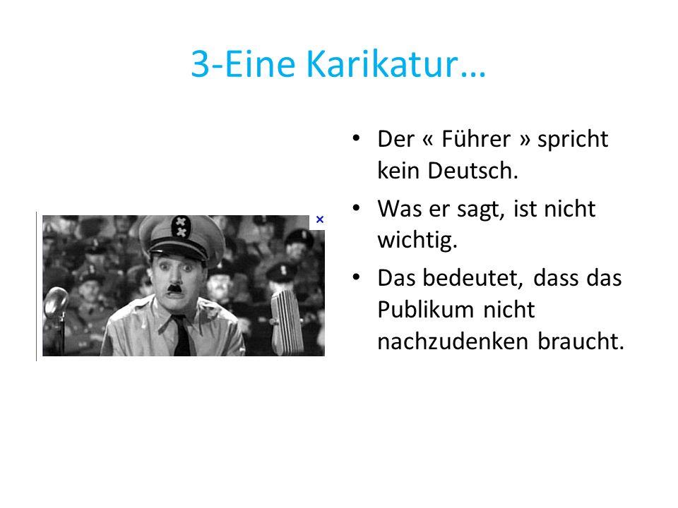 3-Eine Karikatur… Der « Führer » spricht kein Deutsch.