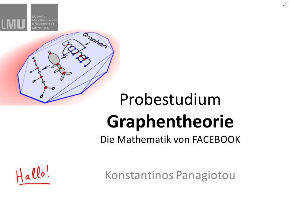 Probestudium Graphentheorie Die Mathematik von FACEBOOK