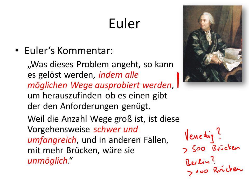 Euler Euler's Kommentar: