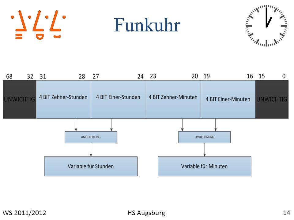 Funkuhr WS 2011/2012 HS Augsburg 14